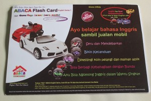 Abaca Flashcard seri English